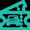 Passagem de veículos para o microcentro